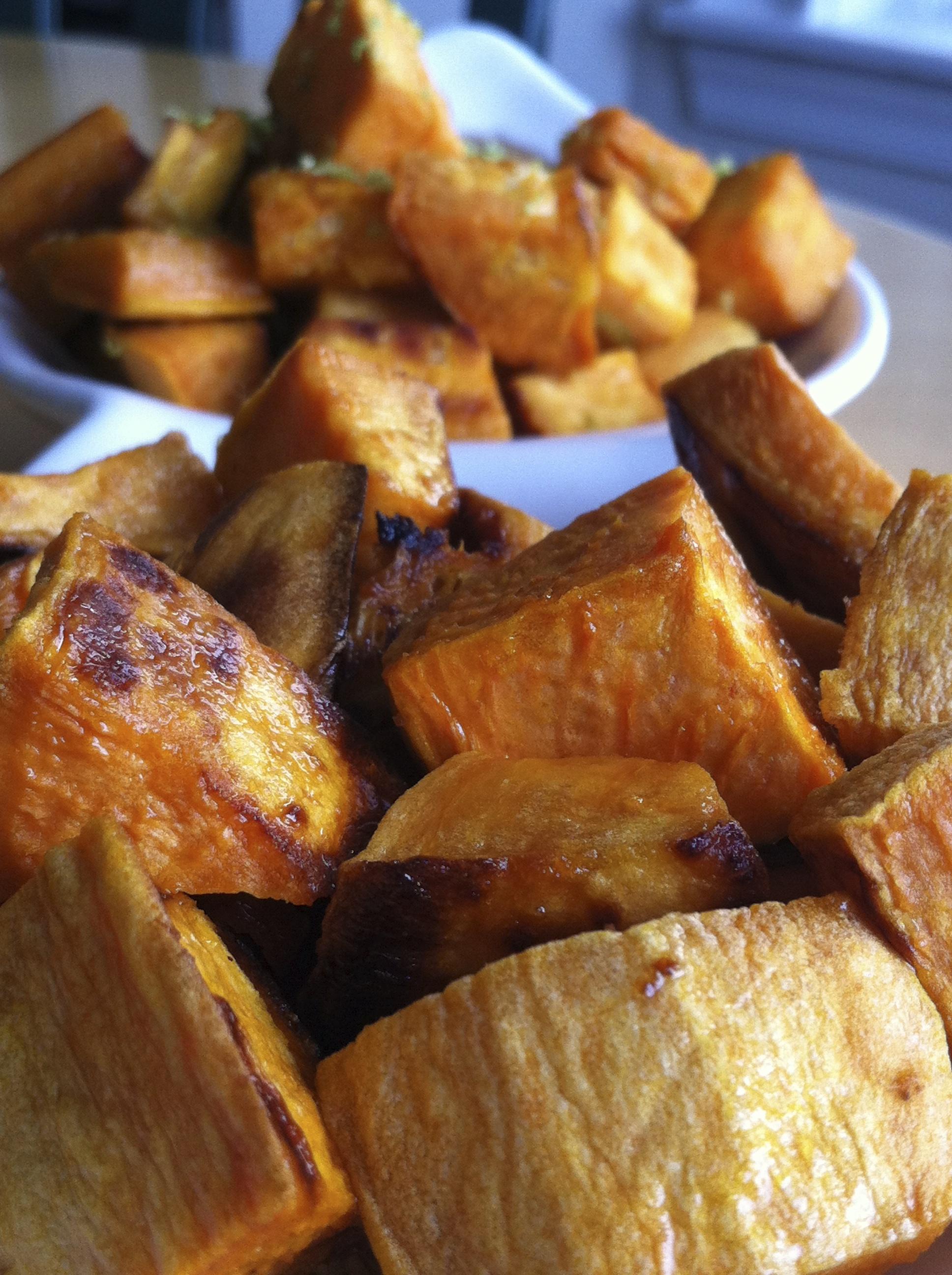 Apple Cider Roasted Sweet Potatoes - Makings Of