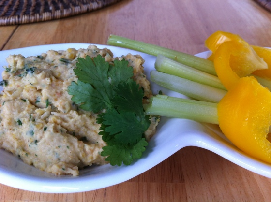 red lentil chickpea hummus