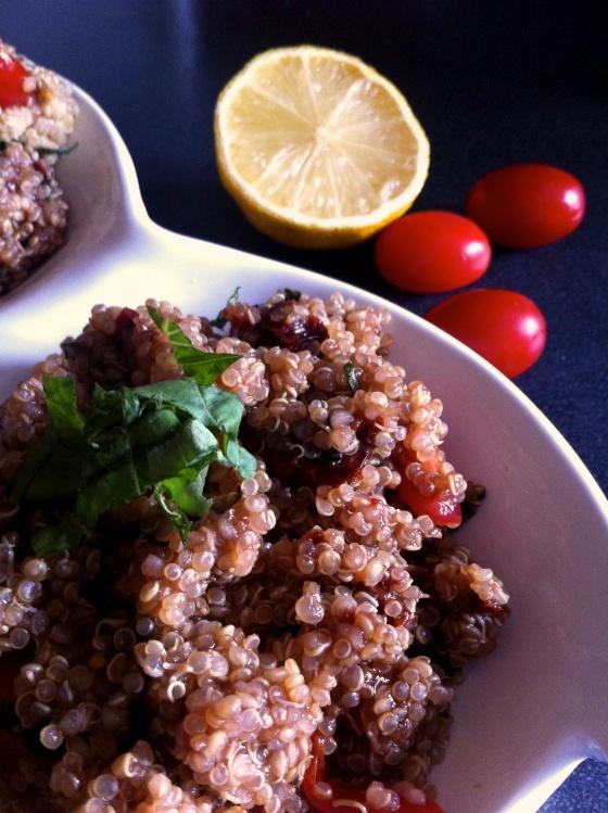 tomato basil quinoa