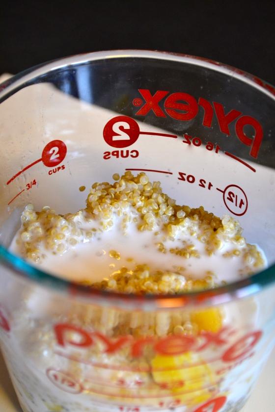 quinoa colada smoothie
