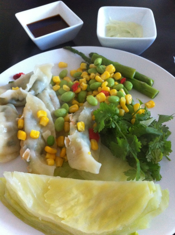 veggie potstickers with cabbage