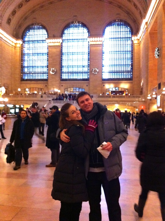 Michael and Sarah in Grand Central