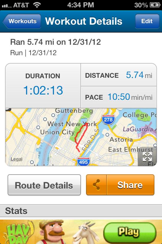 NYC run