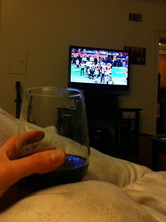 wine and football