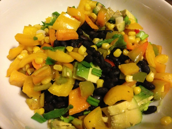 healthy black bean dinner bowl