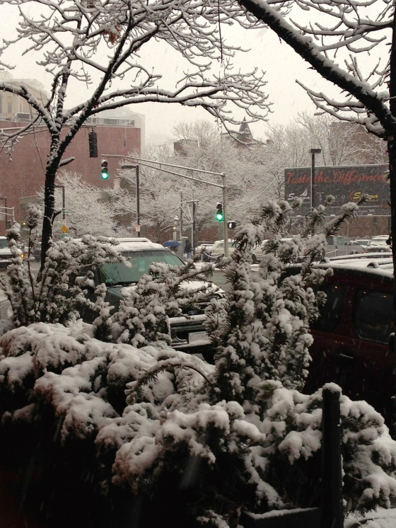 Columbus Street in the snow