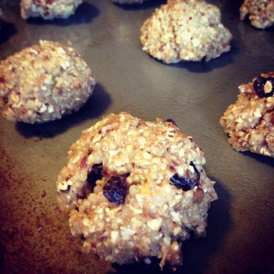 oatmeal raisin and ginger lemon quinoa cookies