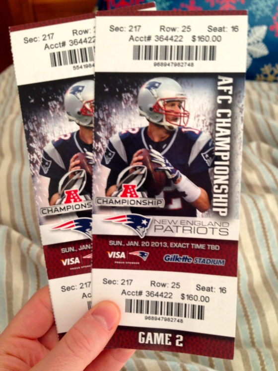 Patriots Tickets