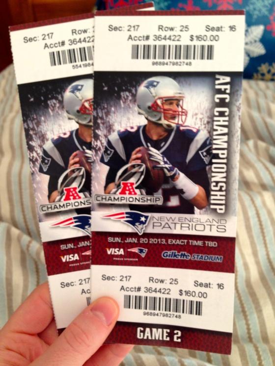 Patriots Tickets