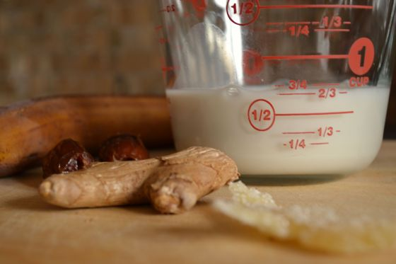 ginger smoothie ingredients