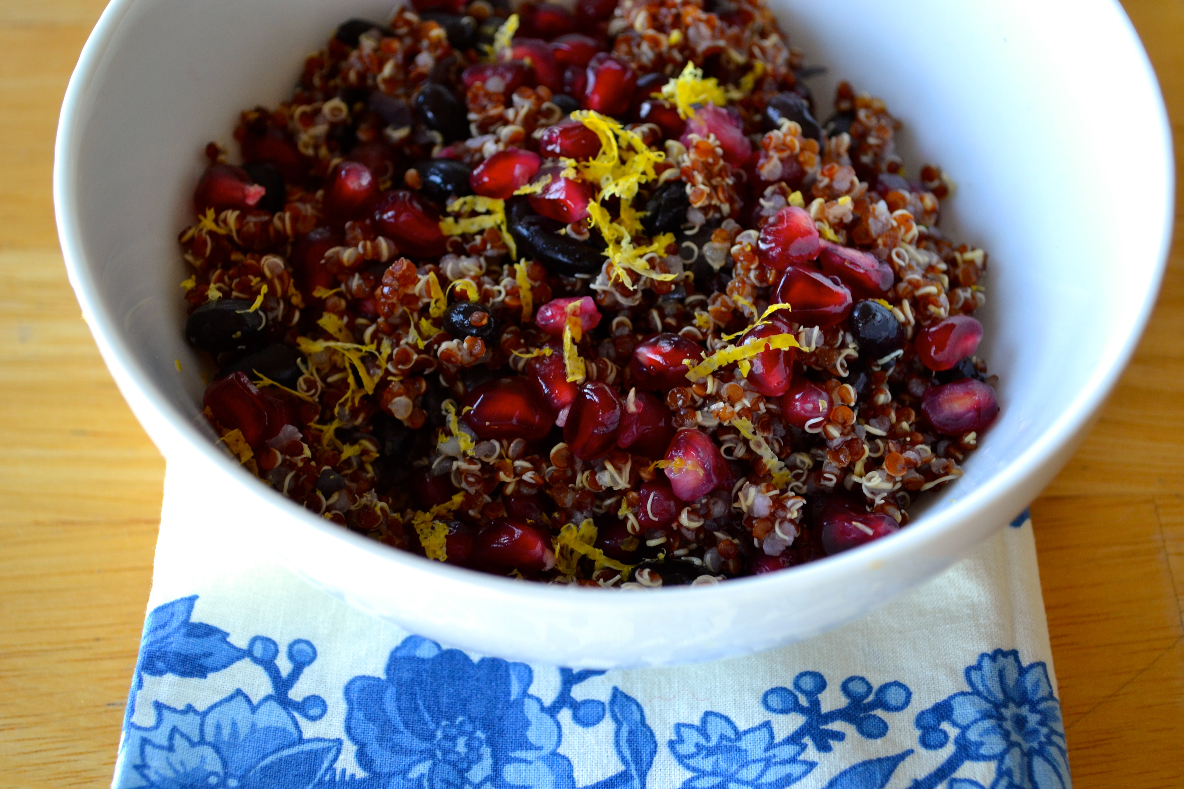 Red Quinoa Pomegranate Salad (vegan, gluten-free)