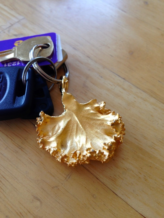 kale leaf key chain