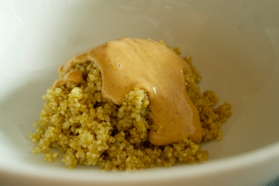 peanut butter and jelly quinoa